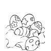 Disegno di Uova Fantasia di Pasqua da colorare