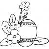 Disegno di Uova di Pasqua con Fiori da colorare