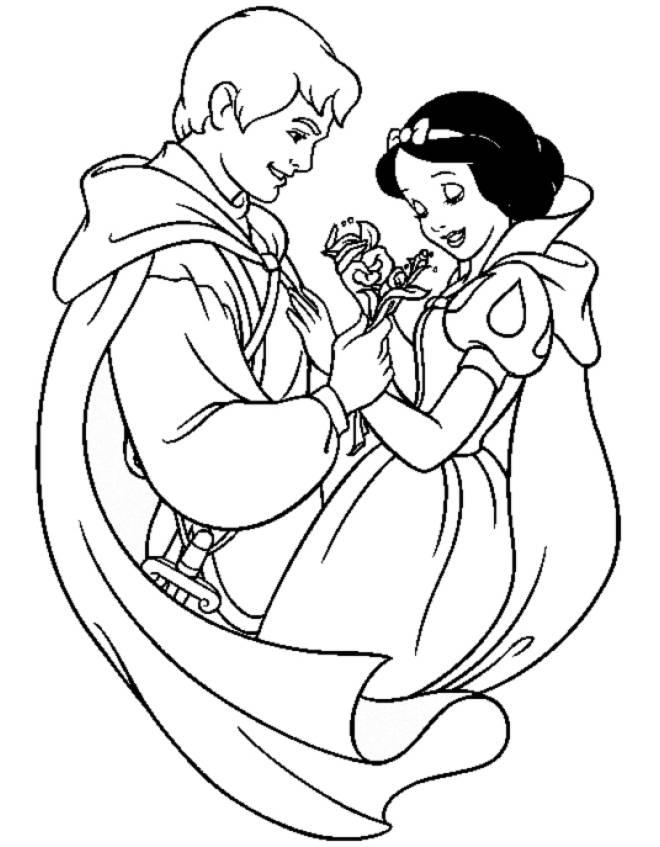 disegni da colorare principe di biancaneve