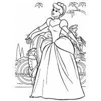 disegno di Cenerentola e la Carrozza da colorare