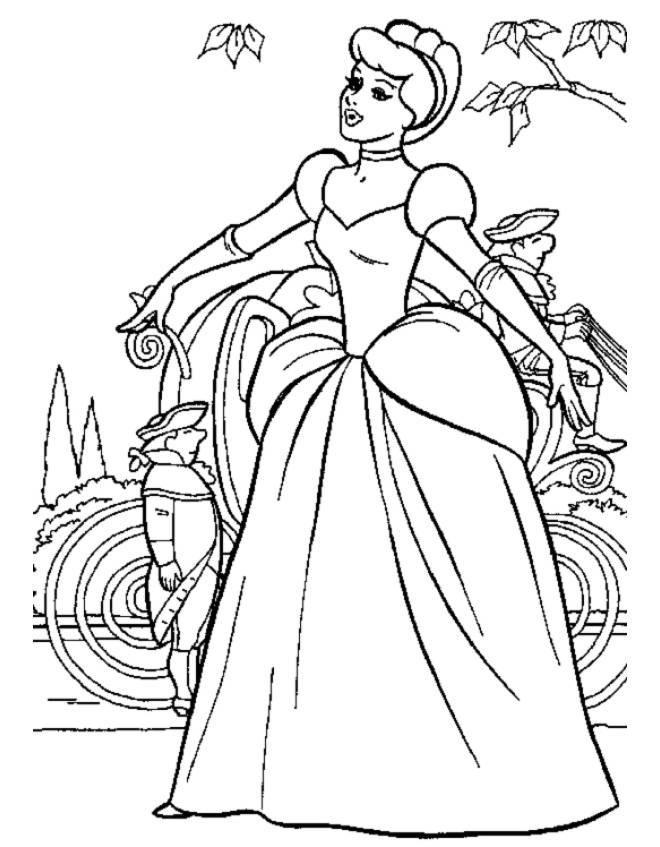 Disegni Da Colorare Walt Disney Cenerentola Cartoni Animati