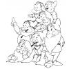 disegno di I Sette Nani da colorare