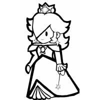 disegno di La Principessa Rosalina da colorare