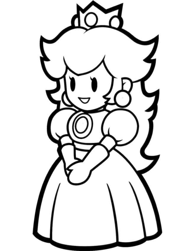 disegno di Peach  da colorare