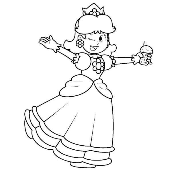Disegno di Principessa Daisy da colorare
