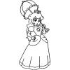 Disegno di La Principessa Peach da colorare
