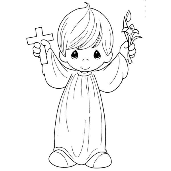 Amato Disegno di Bambino Prima Comunione da colorare per bambini  UU67