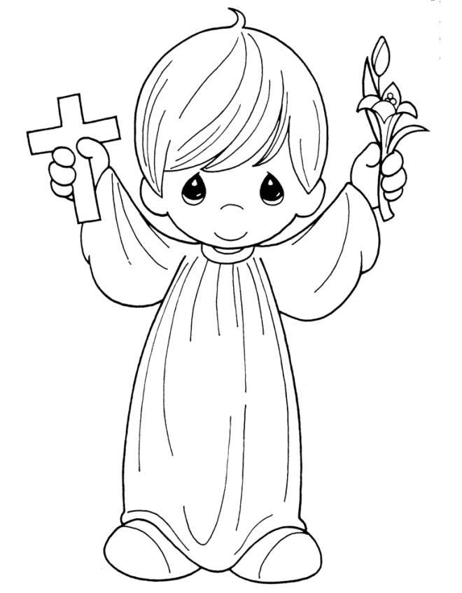 Favorito Disegno di Bambino Prima Comunione da colorare per bambini  DW94