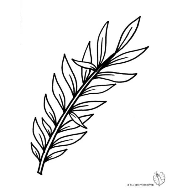 Disegno di Domenica delle Palme da colorare