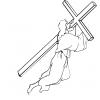 Disegno di Gesù e la Croce da colorare