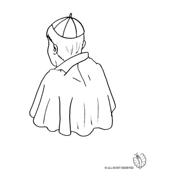 Disegno di Papa da colorare