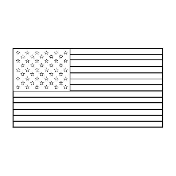Disegno di Bandiera Americana da colorare