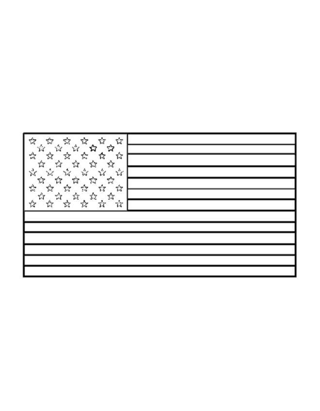 Disegno Di Bandiera Americana Da Colorare Per Bambini