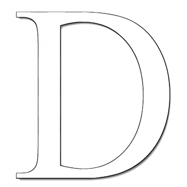 Disegno di Lettera D da colorare