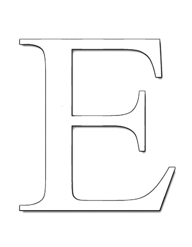 disegno di Lettera E da colorare