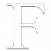 Disegno di Lettera F da colorare