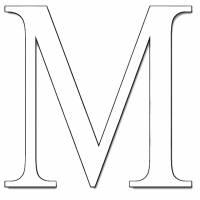 Disegno di Lettera M da colorare