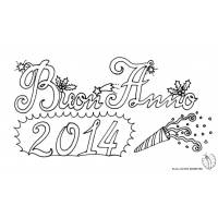 disegno di Buon Anno 2014 da colorare