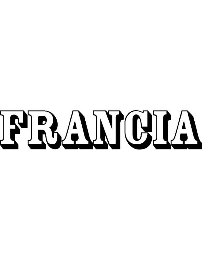 disegno di Francia da colorare