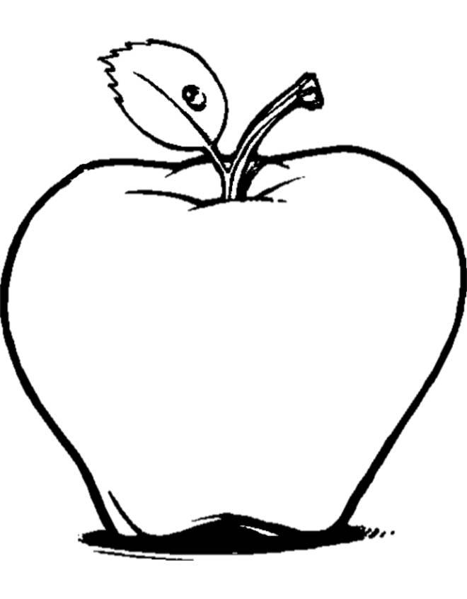 Disegno di la mela da colorare per bambini gratis for Comodini per bambini online