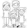 disegno di Famiglia Unita da colorare