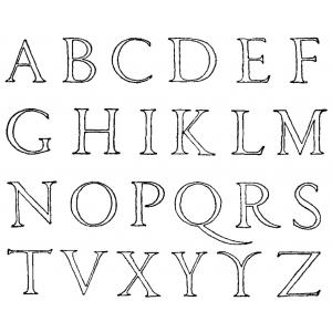 Disegno di Lettere Alfabeto da colorare