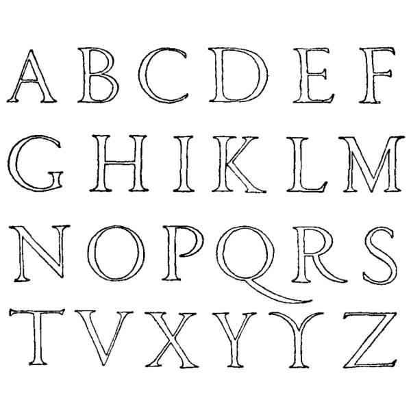 spesso Disegno di Lettere Alfabeto da colorare per bambini  DT41