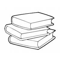 Disegno di Libri Scolastici da colorare