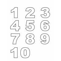 disegno di Numeri da colorare