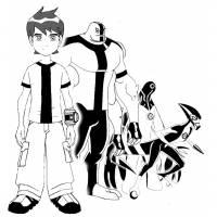 disegno di Ben 10 Cartoon da colorare