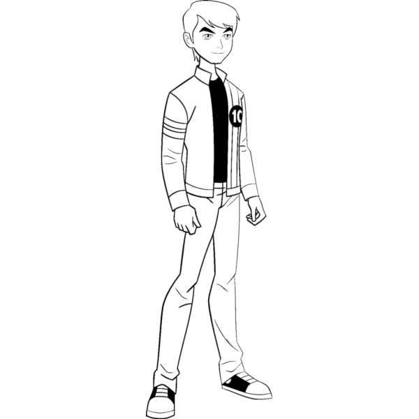 Disegno di Ben Ten 10 Cartoon da colorare