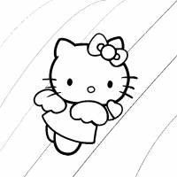 disegno di Hello Kitty Angioletto da colorare