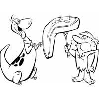Disegno di Barney e Dino da colorare
