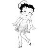 Disegno di Betty Boop Hawaii da colorare
