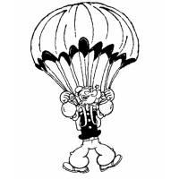 Disegno di Braccio di Ferro col Paracadute da colorare