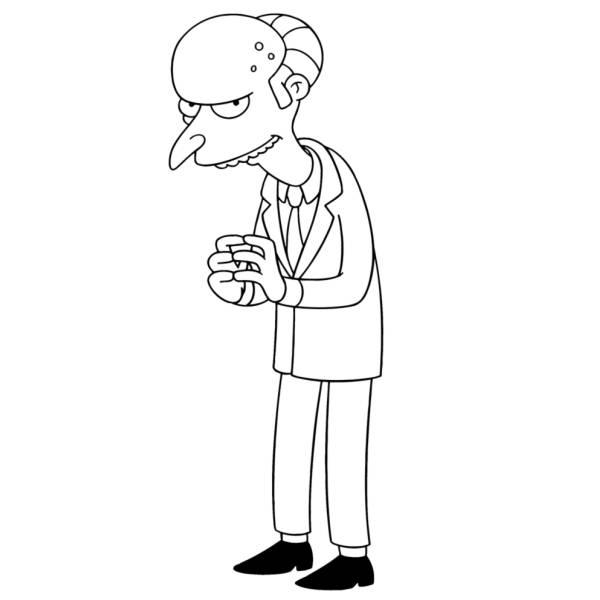 Disegno di Signor Burns dei Simpson da colorare