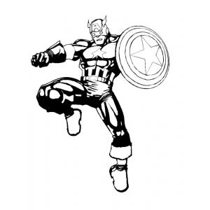 Disegno di Captain America da colorare