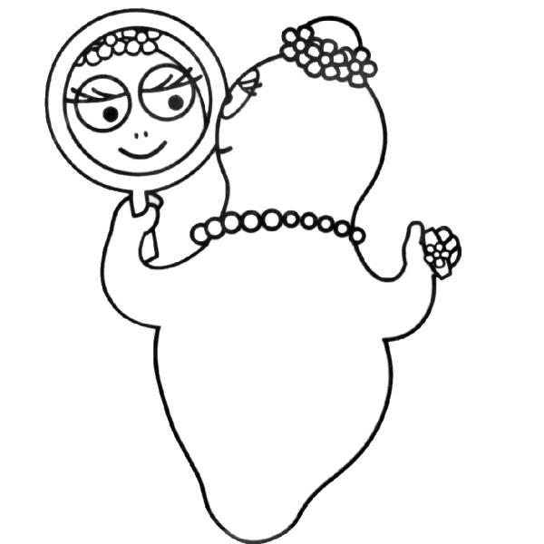 Disegno di Barbabella allo Specchio da colorare