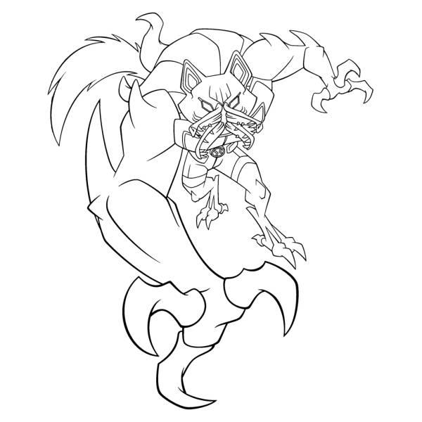 Disegno di benwolf ben ten da colorare per bambini for Ben ten disegni da colorare per bambini