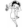 Disegno di Betty Boop Sposa da colorare