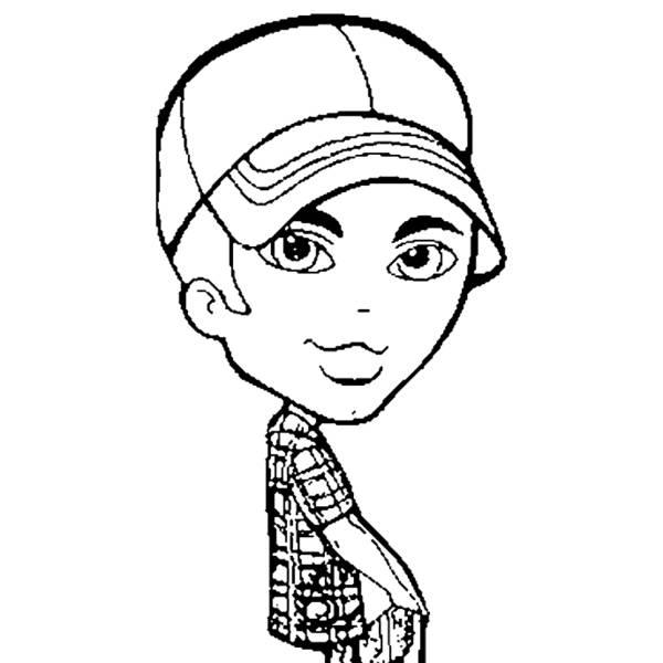 Disegno di Bratz Boy da colorare
