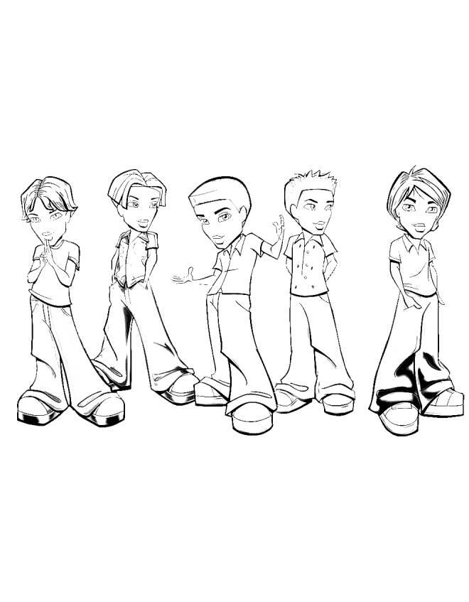 Disegno Di Bratz Ragazzi Da Colorare Per Bambini