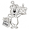 Disegno di Bubu Torta di Compleanno da colorare