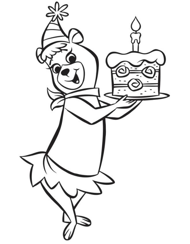 disegno di Cindy Buon Compleanno da colorare