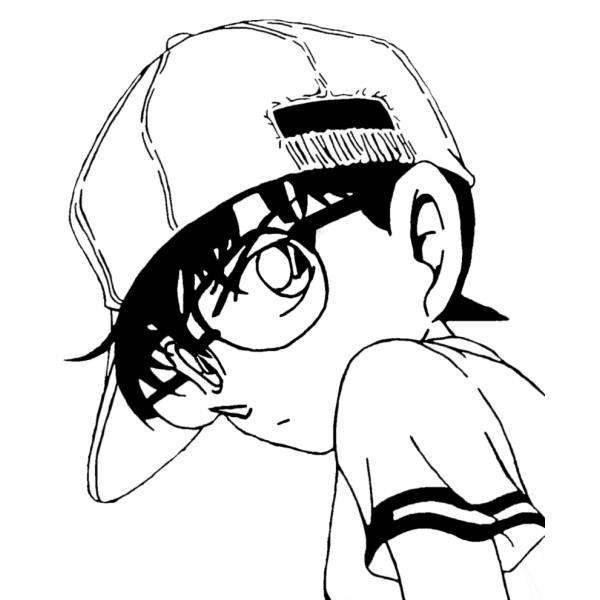 Disegno Di Conan Detective Da Colorare Per Bambini