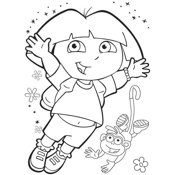 disegno di dora da colorare per bambini
