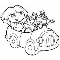Disegno di Dora l'Esploratrice e i suoi Amici da colorare