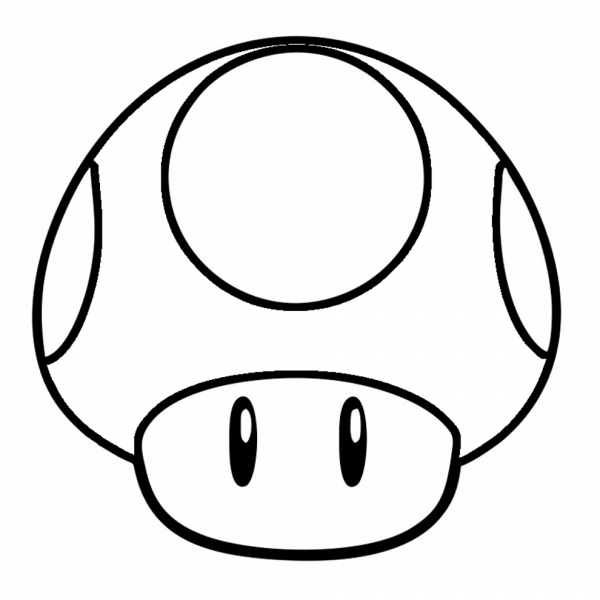 Disegno di funghetto di super mario bros da colorare per for Disegni da colorare super mario bros