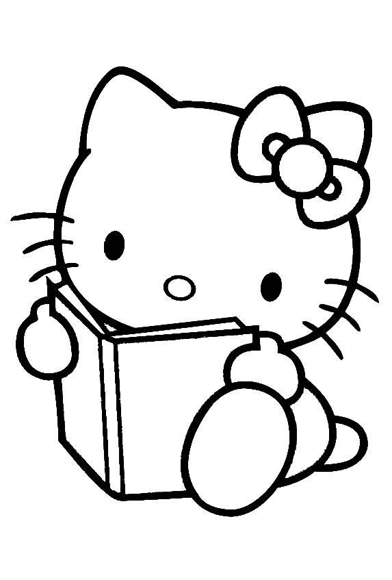 Disegno di hello kitty col libro da colorare per bambini - Toddler libro da colorare ...