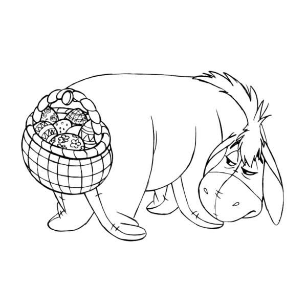 Disegno di Hi Ho e le Uova di Pasqua da colorare